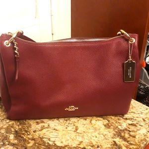 NWT Coach Berry Pebble Leather Mia Shoulder Bag